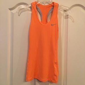 NIKE Women's Orange Dri-Fit Tank Top Size S EUC